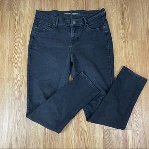 Old Navy Black Mid Rise Skinny Jeans Size 10